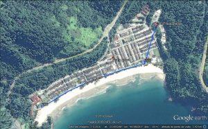 Esquema esgotamento sanitário Vila de Praia Brava